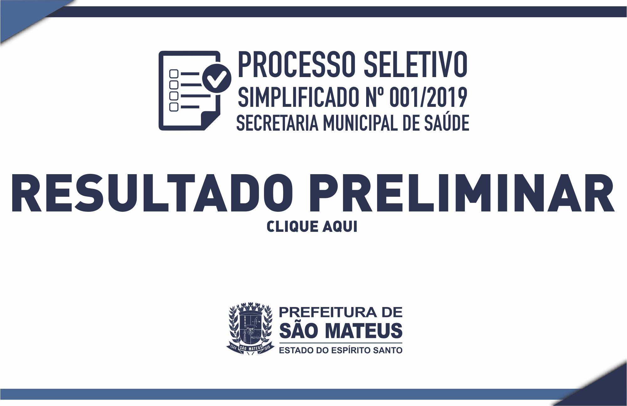 PREFEITURA DIVULGA RESULTADO PRELIMINAR DO PROCESSO SELETIVO SIMPLIFICADO PARA PROFISSIONAIS DA SAÚDE