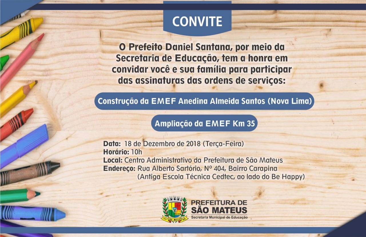 Prefeito Daniel Santana assina Ordens de Serviço