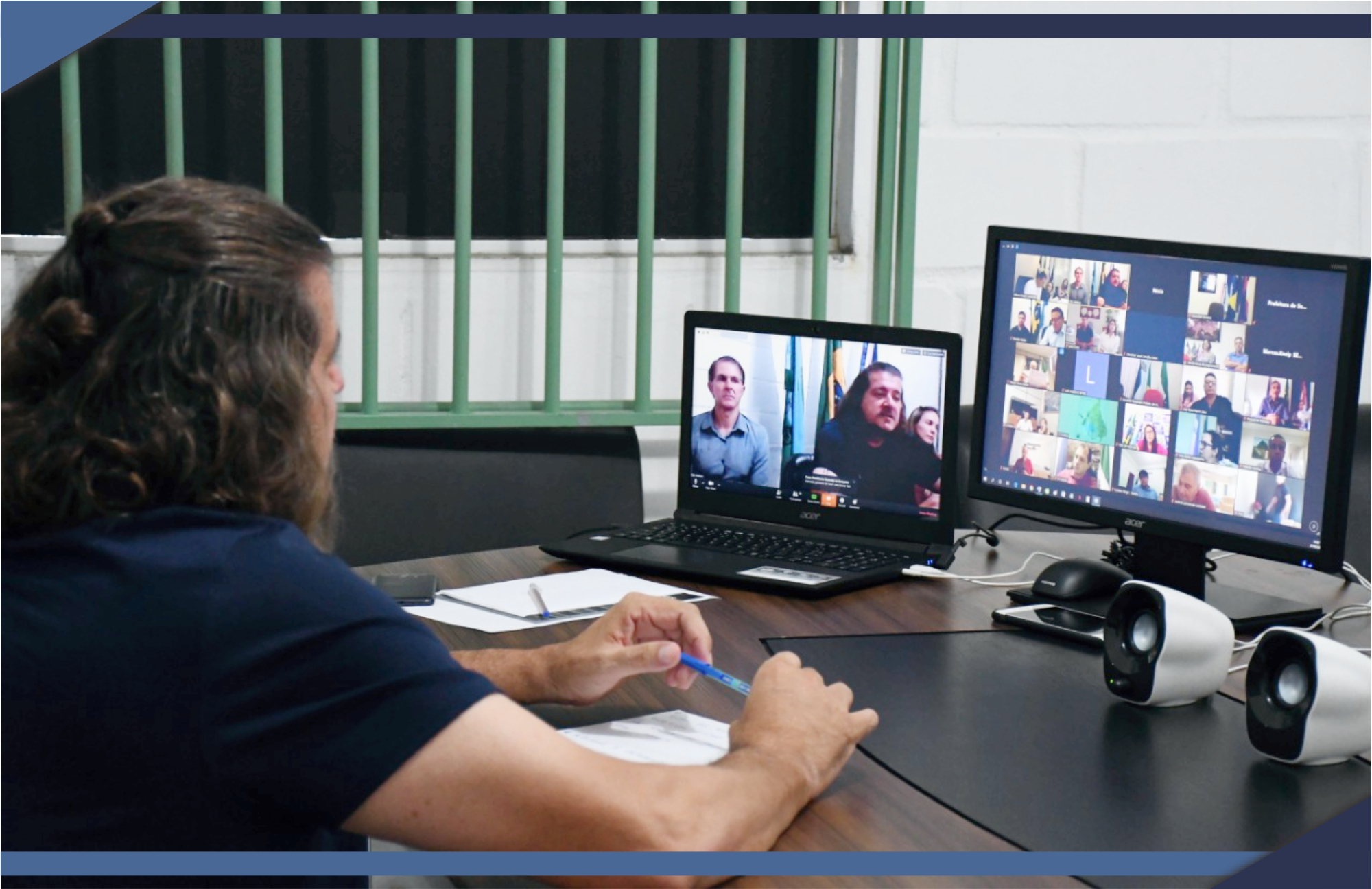 EM VIDEOCONFERÊNCIA COM PREFEITOS CAPIXABAS E GOVERNADOR, O PREFEITO DE SÃO MATEUS REFORÇA MEDIDAS CONTRA O CORONAVÍRUS