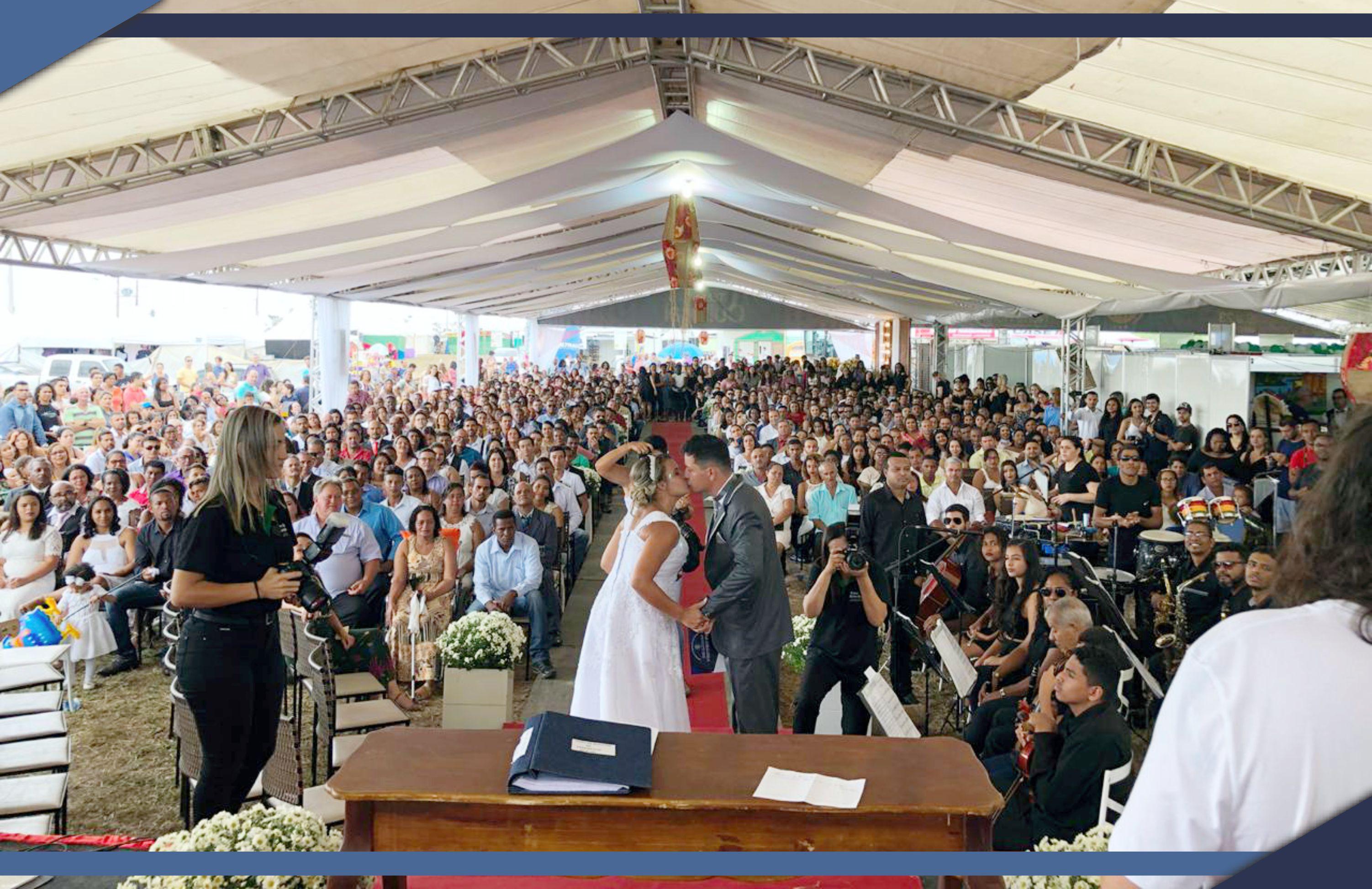 Casamento Comunitário durante os festejos da EXPOSAMA 2018