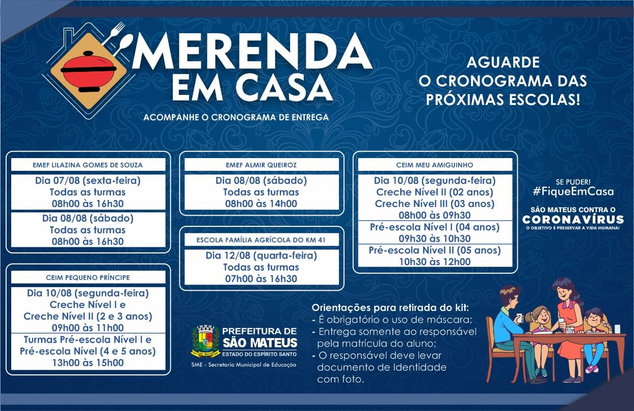 PREFEITURA DE SÃO MATEUS INICIA NOVA ETAPA DE ENTREGA DA CESTA MERENDA EM CASA