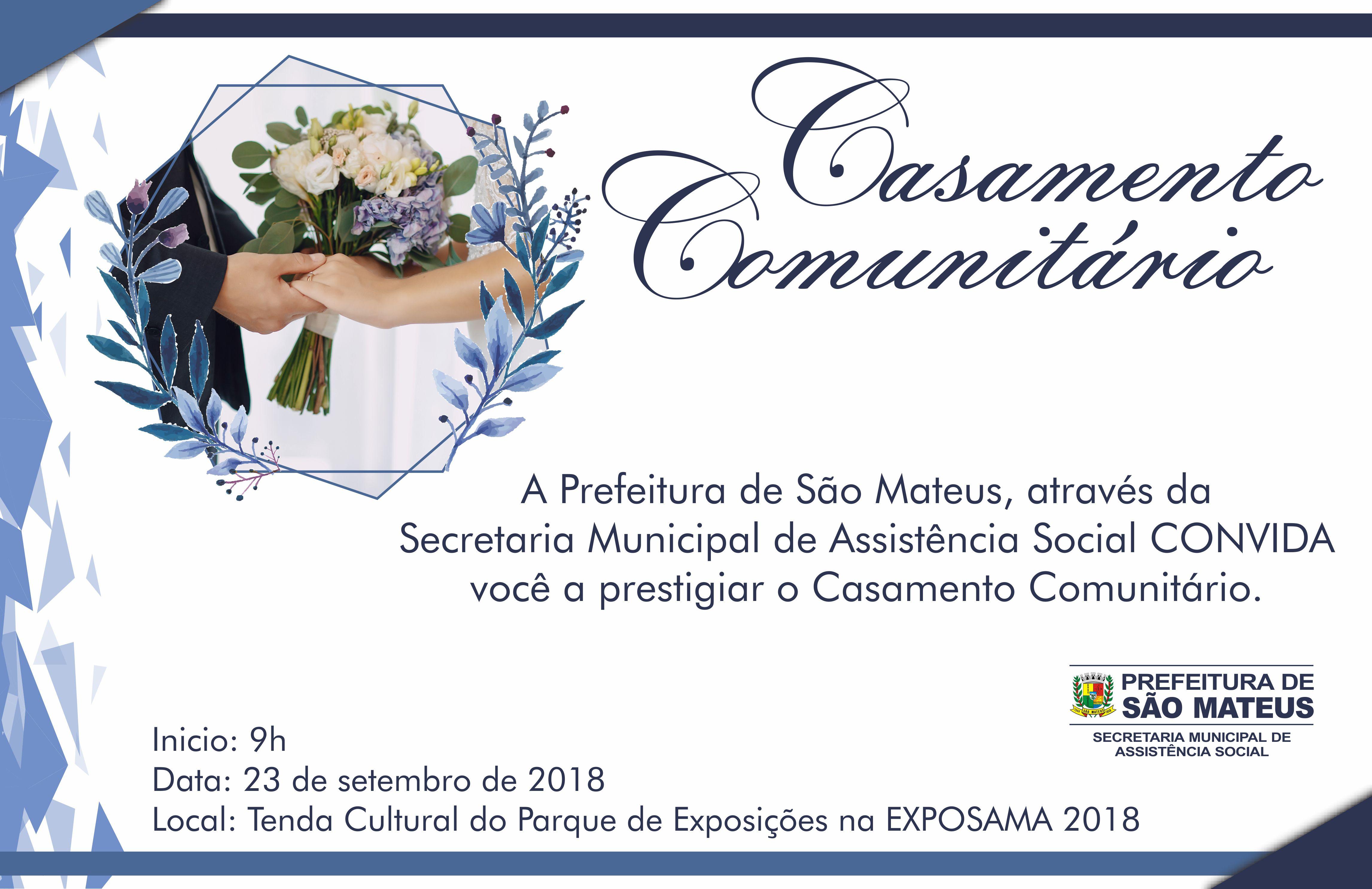 Convite Casamento Comunitário