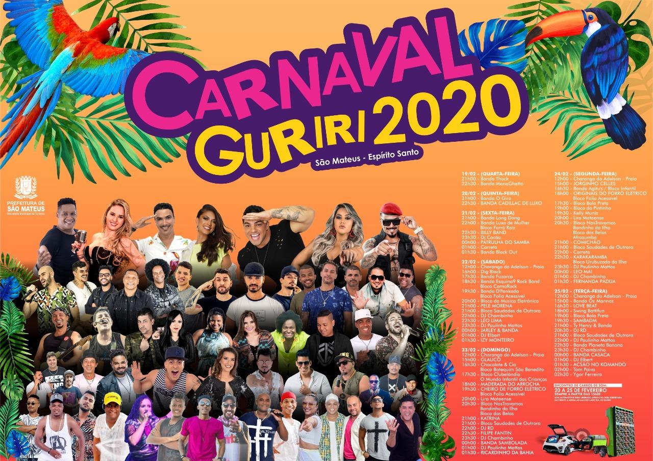 O MAIOR CARNAVAL DO ESTADO É AQUI! 90 ATRAÇÕES NO CARNAVAL GURIRI 2020