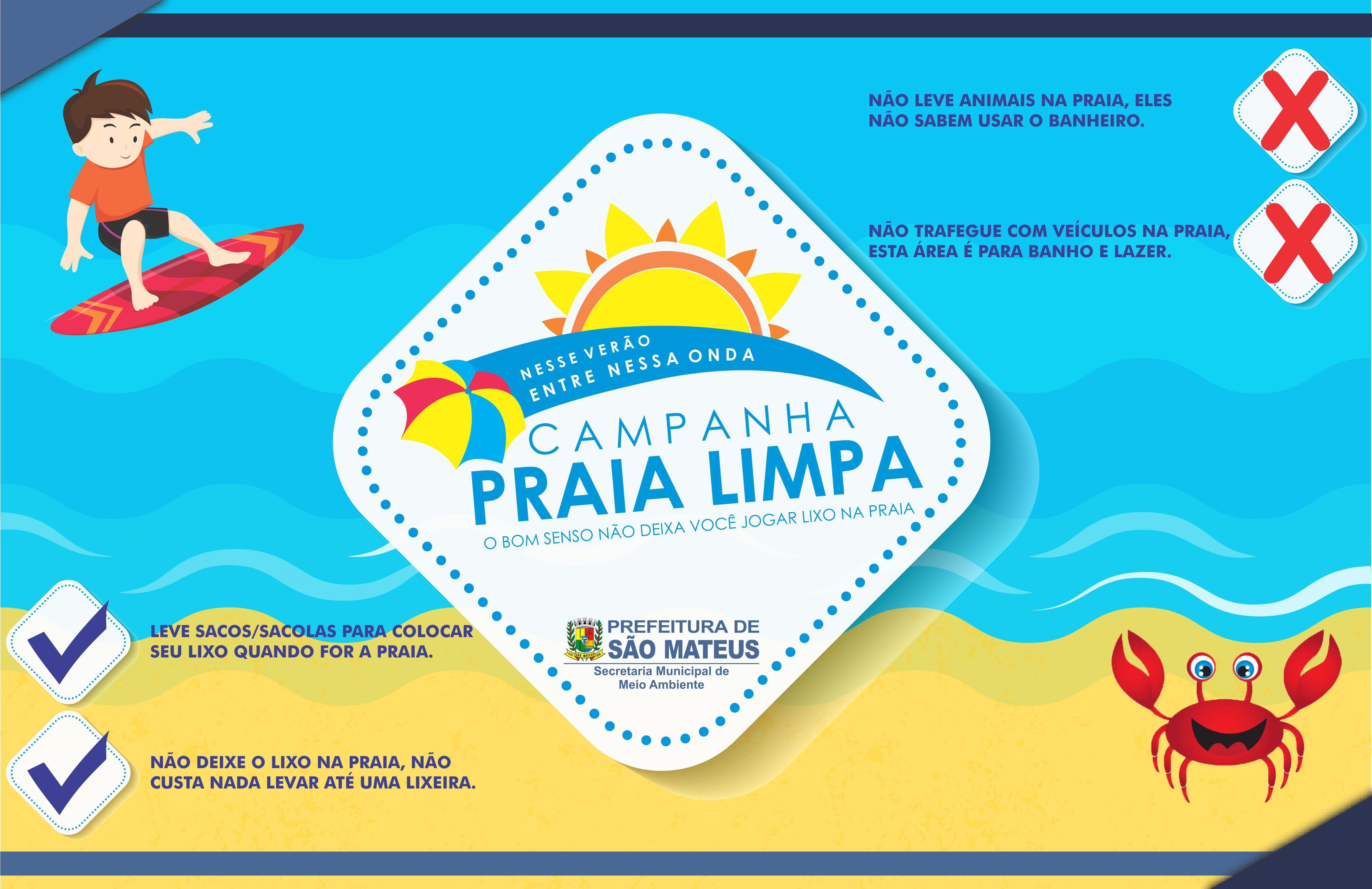 Prefeitura realiza campanha de sensibilização no balneário de Guriri