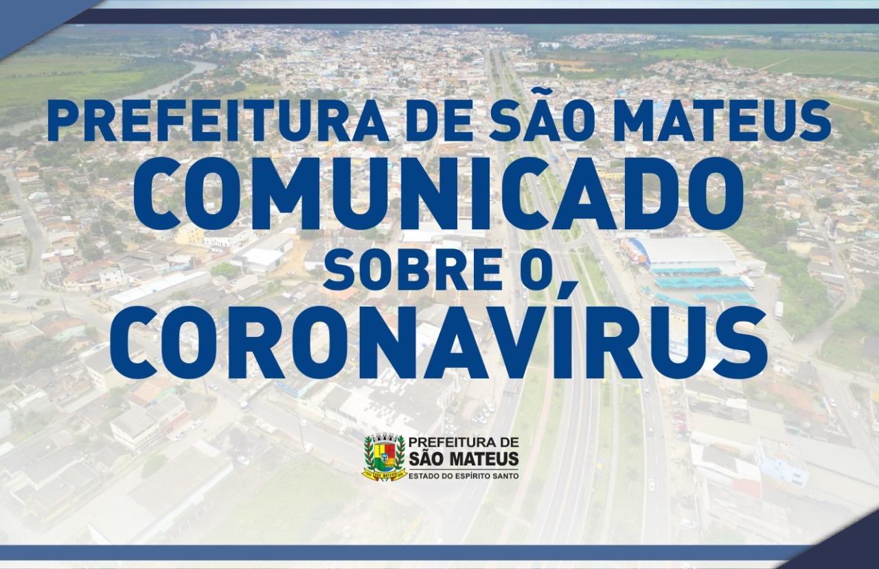 COMUNICADO! PREFEITURA MUNICIPAL DE SÃO MATEUS