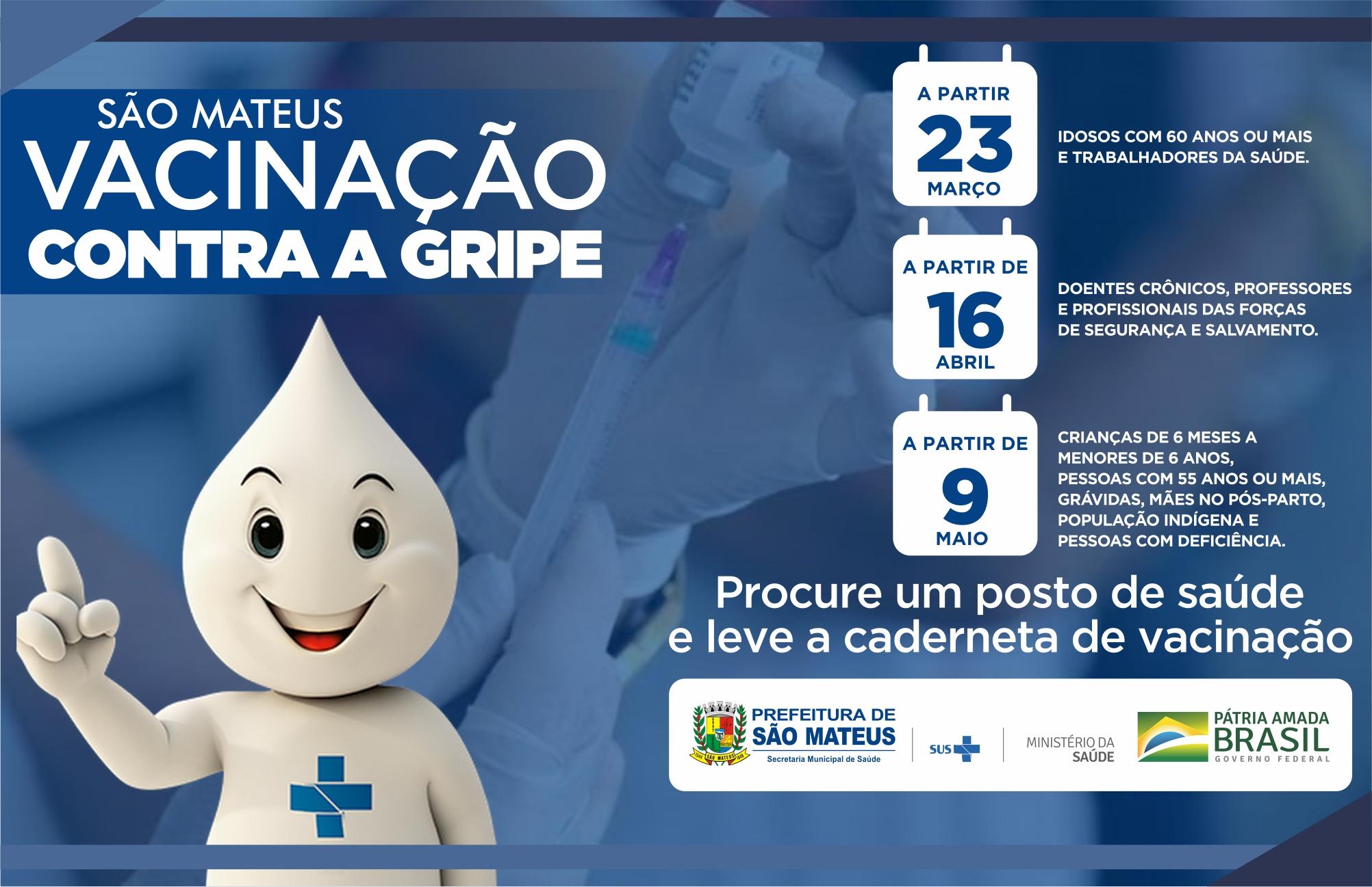 CAMPANHA DE VACINAÇÃO CONTRA A GRIPE COMEÇA NESTA SEGUNDA-FEIRA