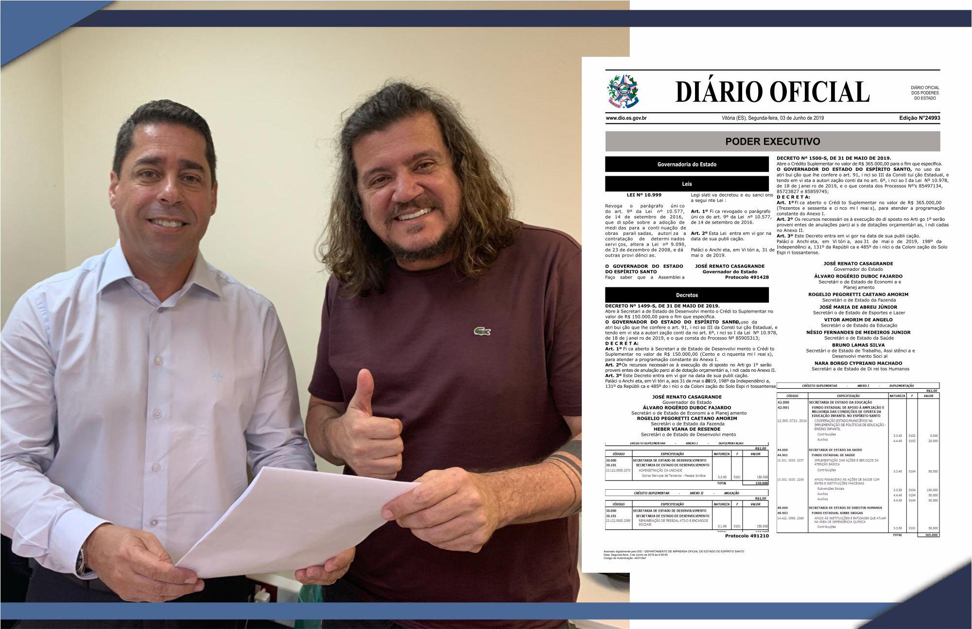 TUDO CERTO PARA A RETOMADA DO ASFALTAMENTO DA RODOVIA LITORÂNEO X DILÔ BARBOSA (ES 315)