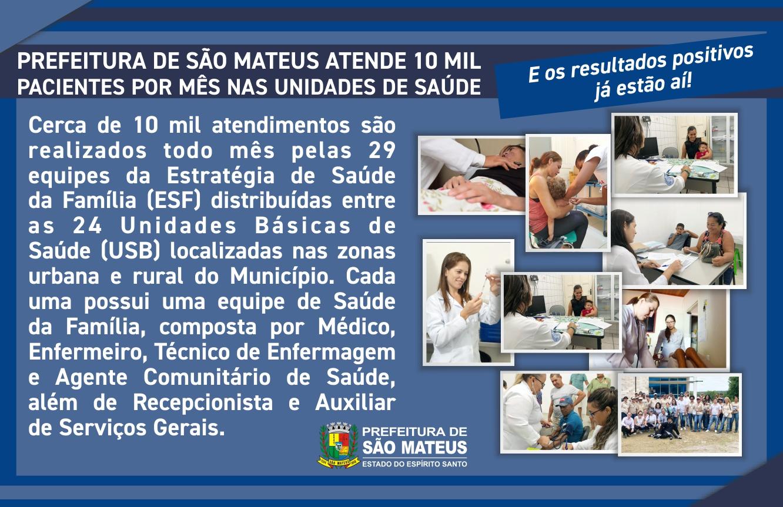 SAÚDE REESTRUTURADA EM SÃO MATEUS!