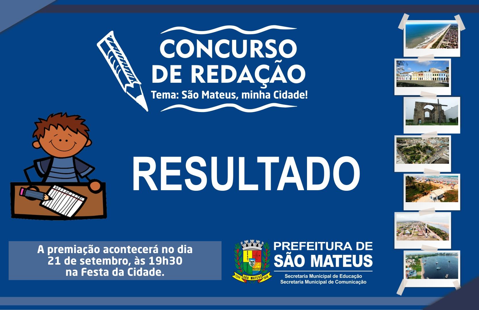 COMUNICADO DA COMISSÃO JULGADORA DO CONCURSO DE REDAÇÃO
