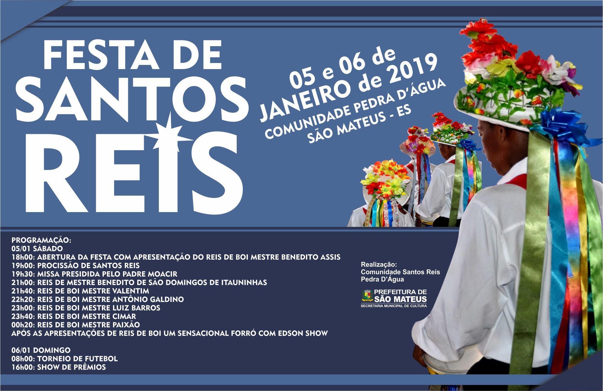 Tradicional Festa de Santos Reis Acontece no primeiro final de semana de 2019