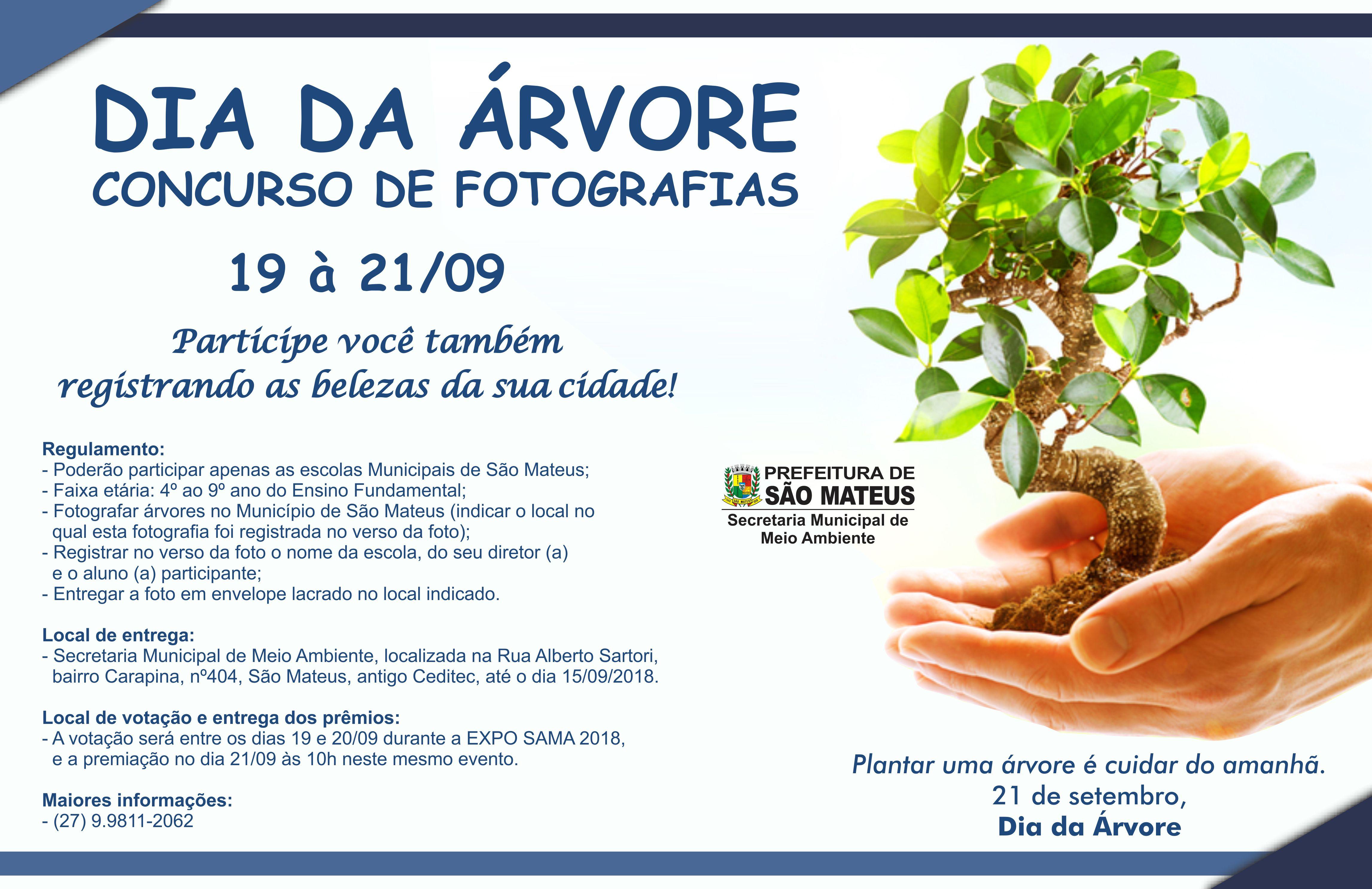 Dia da Árvore comemorado com concurso de fotografias em São Mateus