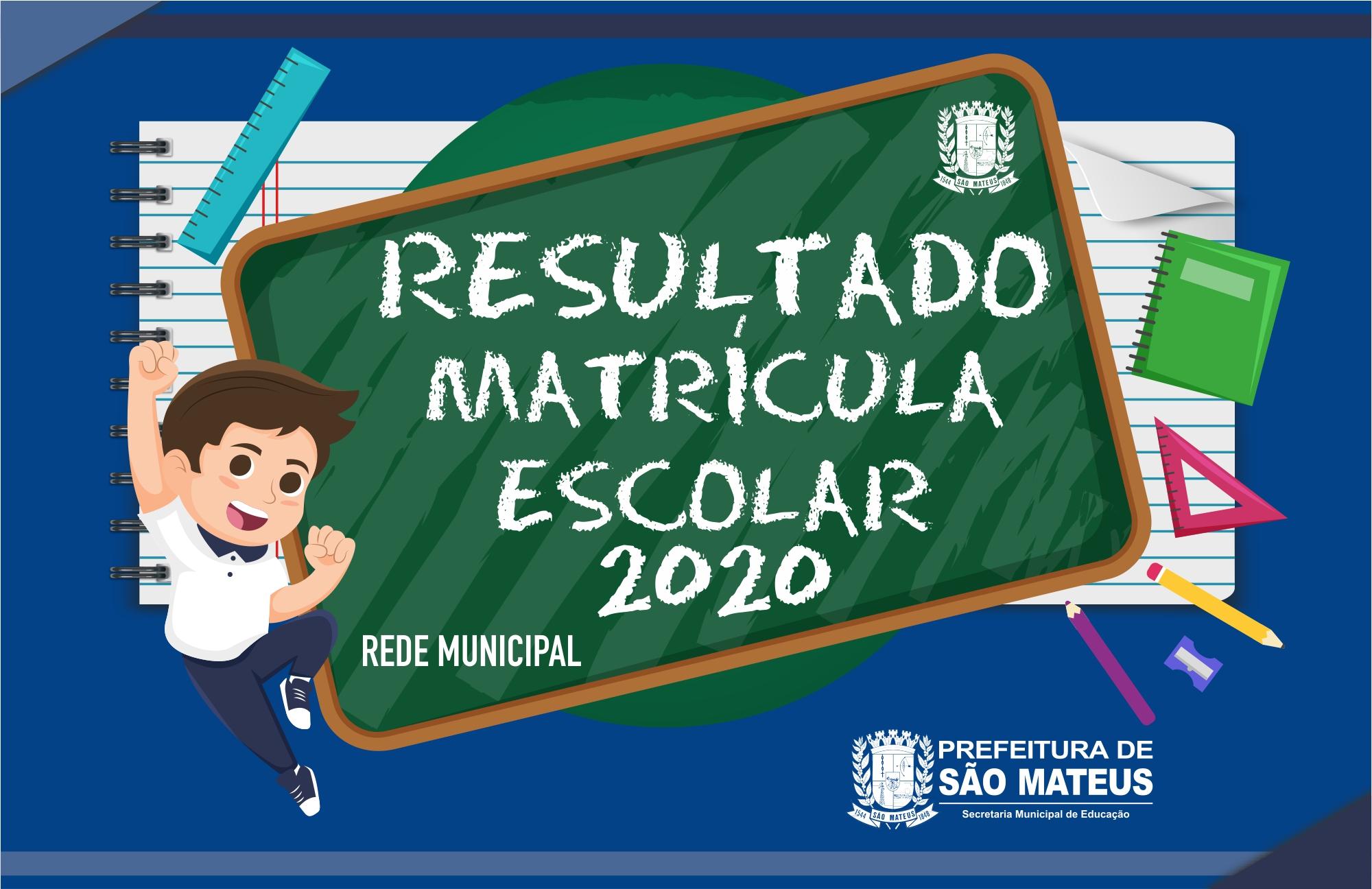 RESULTADO MATRÍCULA ESCOLAR 2020